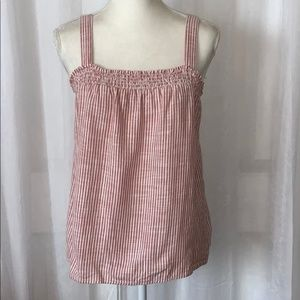 GAP Pink & White Striped Camisole Tank Top S
